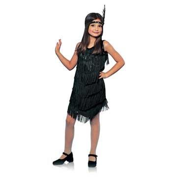 Black Flapper Girl Kids Costume