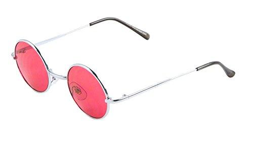 Harry Porter Round Sunglasses John Lennon Ozzy Osbourne Flat Lens (Red, - Ozzy Sunglasses