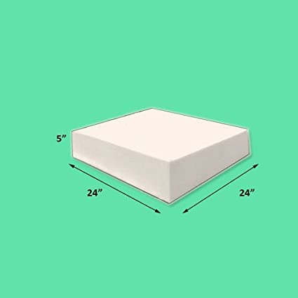 5u0026quot; X 24u0026quot; X 24u0026quot; High Density Upholstery Foam Firm Foam Soft  Support