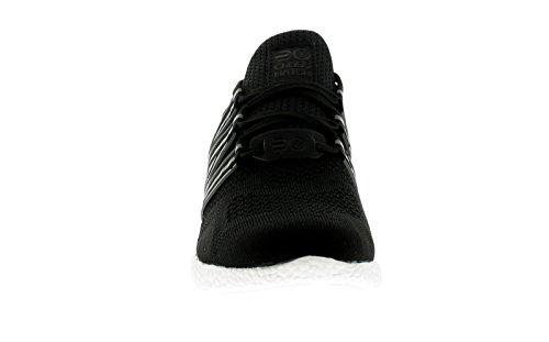 Hombre / Negro Hombre Crosshatch Magneto Con Cordones Zapatillas - Negro/blanco - GB Tallas 7-12