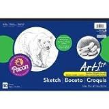 Pack of 2 - Art1st Sketch Pad, Lightweight Paper, 18'' x 12'', 50 Sheets