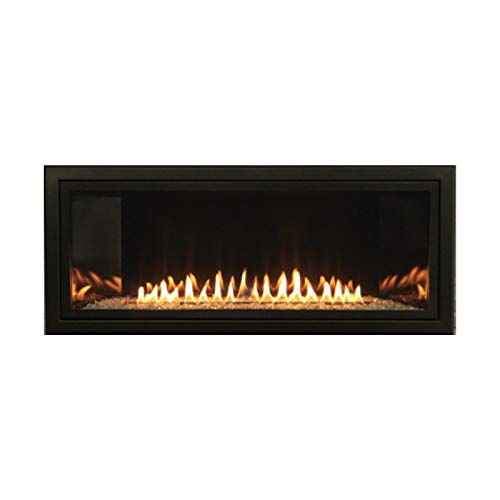 Empire Boulevard Vent-Free 36-in Propane Linear IP Fireplace with Thermostat Variable Remote Control