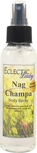 Nag Champa Body Spray (Double Strength), 4 ounces