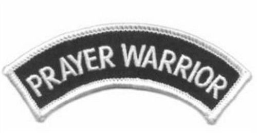Prayer Warrior Rocker Christian Embroidered Bible Jesus NEW Biker Patch PAT-1432 heygidday