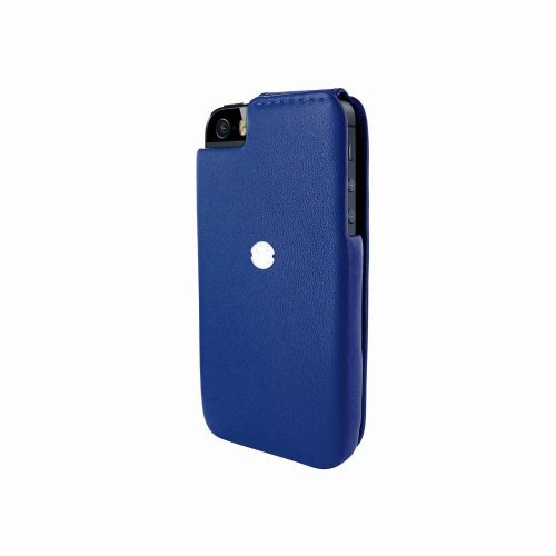 Piel Frama 594BLUE iMagnum Ledertasche für Apple iPhone 5/5S blau