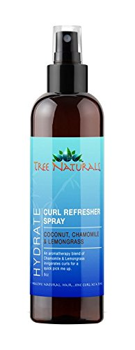 Hydrating Hair Spray - Tree Naturals Hydrating Curl Refresher Spray - Paraben Free - Revitalizes Curls - Reduces Frizz - Lightweight Formula - Perfect for Natural Hair Styles, Braids & Locs - Made in the USA - 8oz