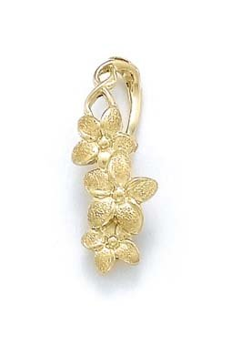 14k Yellow Gold Plumeria Slide 14k Yellow Slide