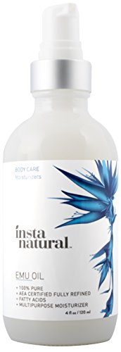 InstaNatural-Emu-Oil-AEA-Certified-Pure-Moisturizer-for-Strengthened-Hair-Stretch-Marks-Scars-Joint-Muscle-Pain-For-Body-Skin-Eyes-Face-Nails-Essential-Product-for-Beauty-4-OZ