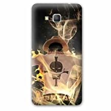 Back cover case replacement Samsung Galaxy Grand Prime Manga - One piece - - feu ace N -