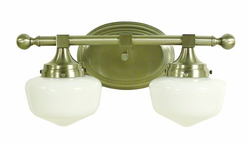 Framburg 2938 BN Taylor 2-Light Vanity Fixture with White Opal Glass Shades, Brushed Nickel - Framburg Traditional Sconce