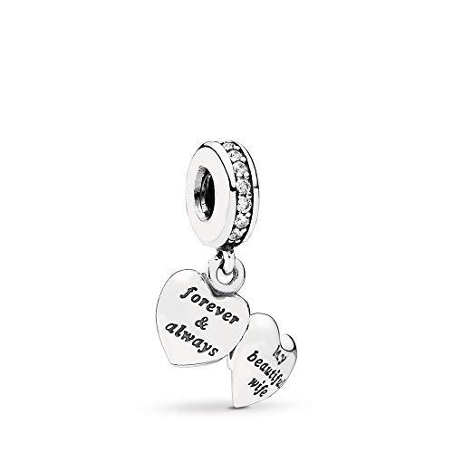 PANDORA My Beautiful Wife Dangle Charm, Sterling Silver, Cubic Zirconia, One Size