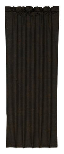 HiEnd Accents Western Faux Leather Curtain (Curtains Leather Black)