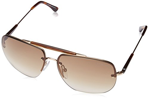 3e9dc7456c0 Tom Ford Men s Nils Aviator Sunglasses in Shiny Rose Gold Gradient Brown  FT0380 28F 61 - Buy Online in KSA. Apparel products in Saudi Arabia. See  Prices ...