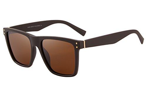 UV Retro Polarized Women Sun Men 400 Glasses Brown Sunglasses Brand MERRYS wPx8aqw