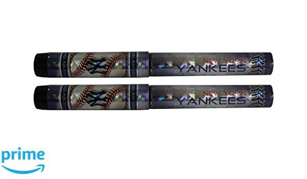 New York Yankees Metallic Logo Pen 2pk