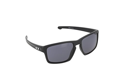 Oakley Men's Sliver OO9262-01 Rectangular Sunglasses, Matte Black, 57 - Men Shades For Oakley