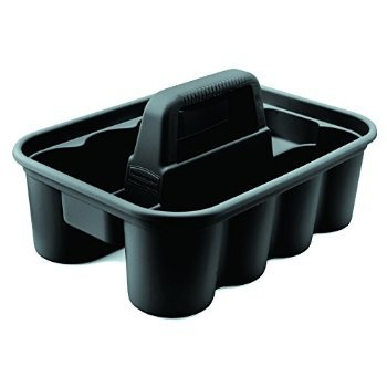 4 X Rubbermaid Commercial FG315488BLA Deluxe Carry Caddy, Black