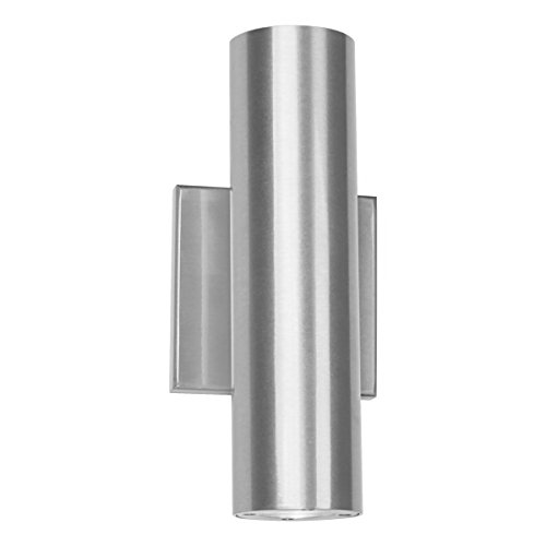 WAC Lighting WS-W36610-AL Caliber LED Outdoor Wall Light, 10 Inches, Brushed Aluminum