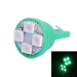 T10 4W 120LM 4 × 3528 SMD Luz LED verde para las lámparas del tablero de instrumentos del coche / la puerta / Trunk (DC 12V,, 1pcs)