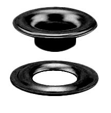 #0 SHEET METAL GROMMET and WASHER BRASS DULL BLACK CHEM (1440 pcs. of each) (Size 0 Grommet And Washer compare prices)