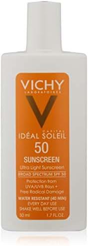 Vichy Capital Idéal Soleil Ultra-Light Face Sunscreen SPF 50, 1.7 Fl. Oz.
