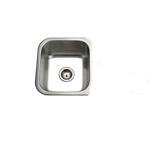 - Houzer ED-3108-1 Elite Series Undermount Stainless Steel 50/50 Double Bowl Kitchen Sink by HOUZER