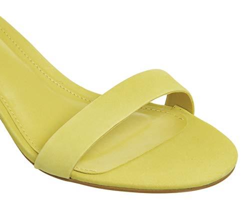 Sandals Nubuck Heel Block Yellow Office Finley CwpqPPA