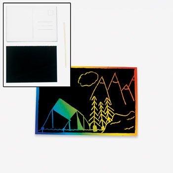 50 ~ Magic Color Scratch Postcards / 4 1/4