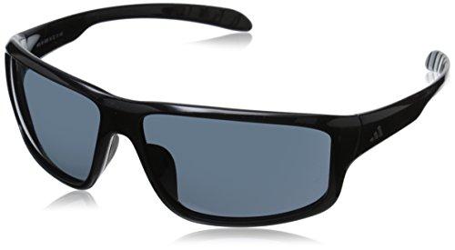 adidas Kumacross Rectangular Sunglasses, Black, 64 mm