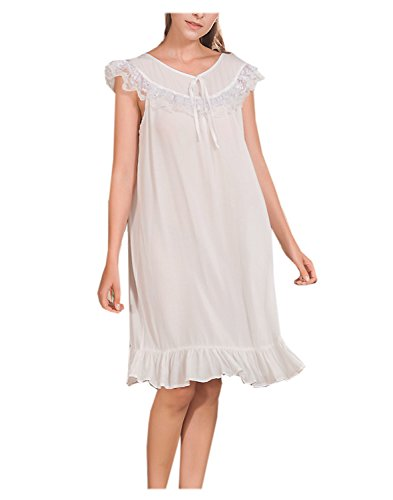 Price comparison product image Big Girls Sleeveless Elegant Lace Nightgown Princess Nightgown (8y-16y)