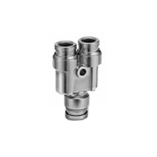 SMC KQG2U12-00 Stainless Steel 316 One-touch Fitting, Union Y SMC Pneumatics (UK) Ltd