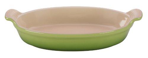Le Creuset Heritage Stoneware Oval Au Gratin Dish, 1-Quart, Palm (Le Creuset Pot Rack)