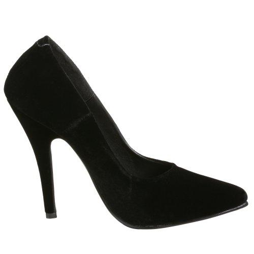Pleaser Seduce-420, Zapatos De Tacón para Mujer Negro (Blk Vel)