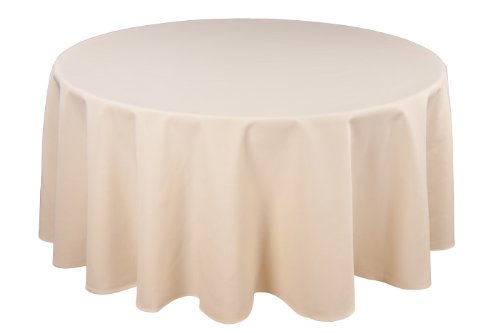 Riegel Permalux Cottonblend 90-Inch Round Tablecloth, Ivory