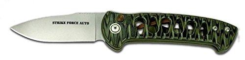 Knives of Alaska Strike Force Auto G10 Knife, OD/Black