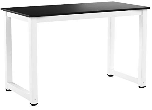 Computer Desk, DOSLEEPS Office Study Desk Computer PC Laptop Table Workstation Dining Gaming Table for Home Office, Black Wood Grain
