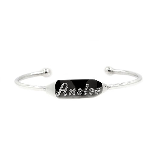 Baby Cuff Bracelet (Sterling Silver 3 1/4 Inches Half Cuff Engravable Infant Child Identification Bangle Bracelet)