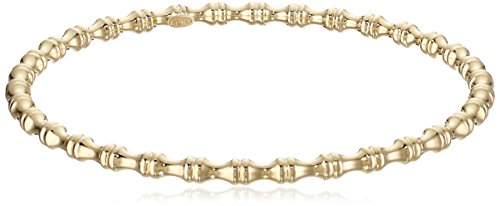 AMAZOn 14k Yellow Gold Bamboo Slip-On Bangle Bracelet