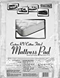 Cotton Mattrs Pad Wht Din - RV49X75/100%MP