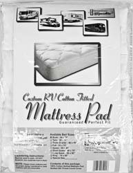 Cotton Mattress Pad Wht K - RV76X80/100%MP