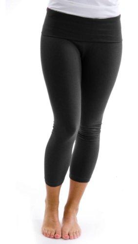 T Party Women's Yoga Capri Pants,Black,Medium ()