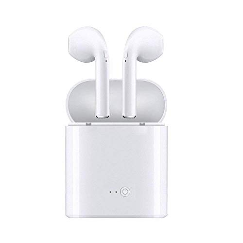 Expboo Bluetooth Headset Wireless Earbuds Sweatproof Sports Headphones with Charging Case Mini Size HD Stereo in-Ear Noise Canceling Earphones with Mic for Phone iOS Android Smart Phones