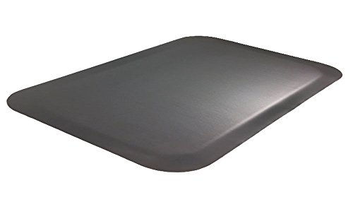 Luxury Step 1/2'' Premium Smooth-Top Anti-Fatigue Mat, 3' x 5', Black by Portico Systems