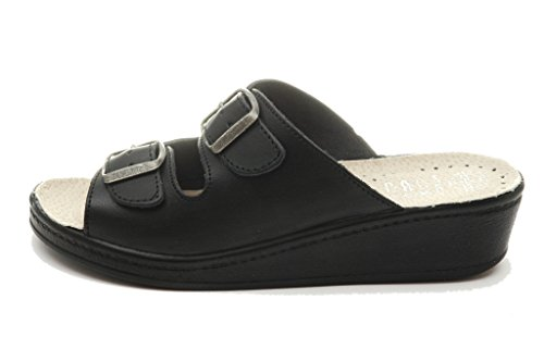 400sb Mujer Punto Zapatos Sandalias Dr Cuero Zuecos Medical Rosso Comfort Para Negro De Zapatillas wxHS7