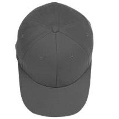 (Yupoong - Flexfit® Brushed 6-Panel Cap, Dark Grey,)