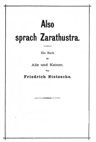 Así Habló Zaratustra Spanish Edition