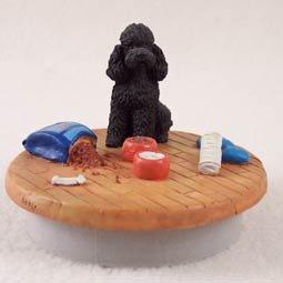 (Conversation Concepts Miniature Poodle Black w/Sport Cut Candle Topper Tiny One