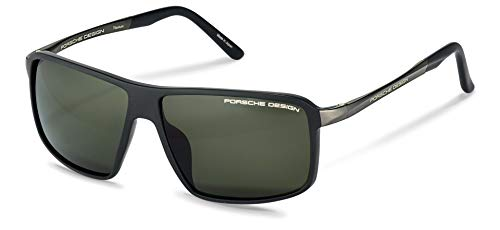 Porsche Design Men's P8650 P/8650 A Matte Black/Gray Polarized Sunglasses 60mm (Porsche Design Eyewear)