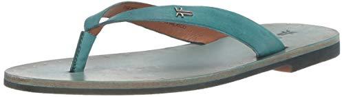 - FRYE Women's Azalea Logo FLIP Flop Flat Sandal Turquoise 9 M US