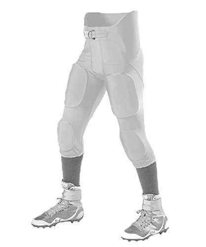 Alleson ADULT INTERGRATED FOOTBALL PANT WHITE 3X 689S (Alleson Football Pants)